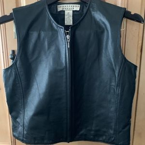 Apostrophe Genuine Leather vest Black